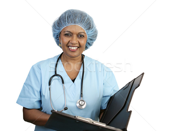 Surgical Nurse - Smiling Stock photo © lisafx