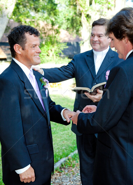 Gay Marriage Ceremony - Rings Stock photo © lisafx