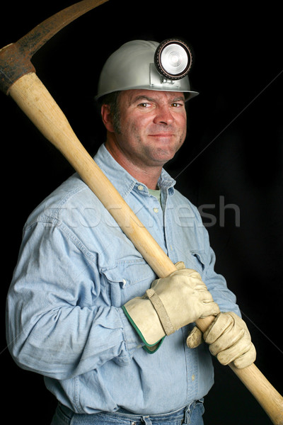 Coal Miner - Friendly Stock photo © lisafx