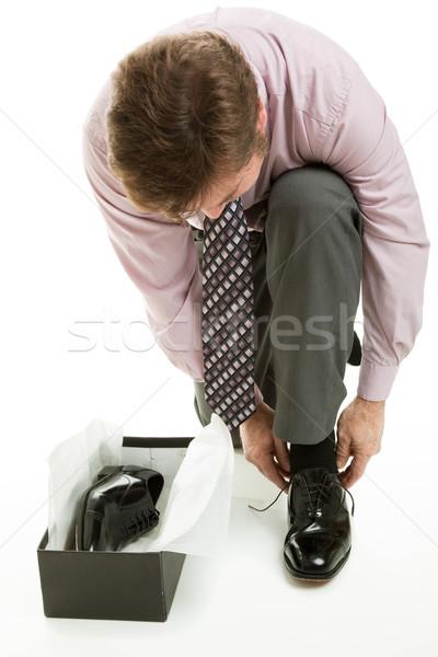 Stock fotó: Férfi · cipők · üzleti · öltözék · új · pár · ruha