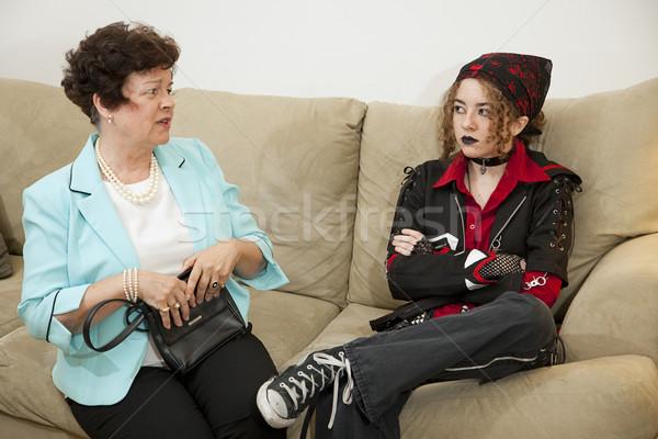 Madre bambino argomento teen madre Foto d'archivio © lisafx