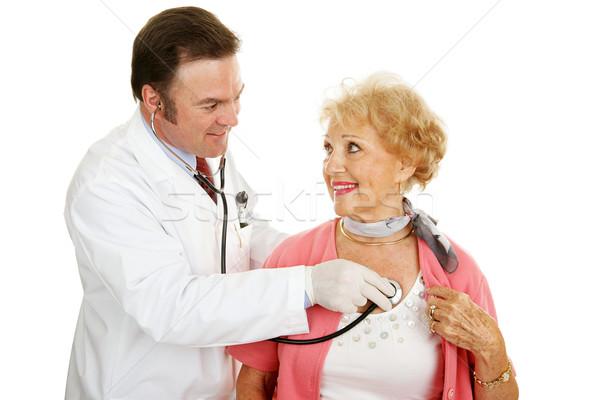 Photo stock: Supérieurs · médicaux · coeur · santé · médecin · stéthoscope