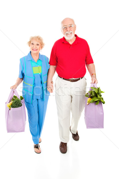 Seniors With Reusable Shopping Bags Stock photo © lisafx