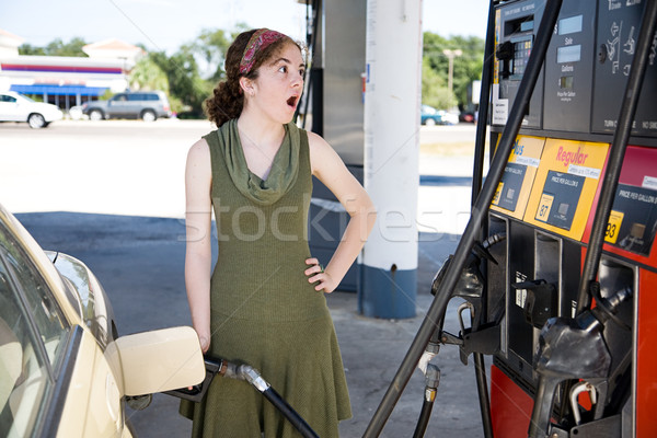 Conmocionado gas precios relleno hasta Foto stock © lisafx