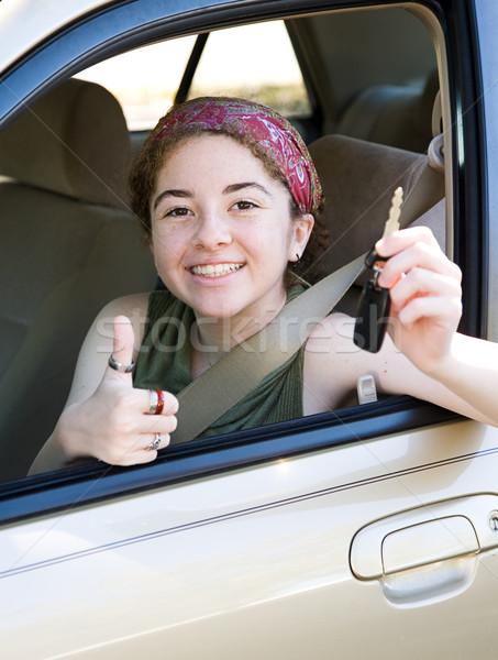 Teen sleutels cute bestuurder autosleutels Stockfoto © lisafx