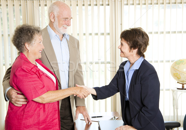 Seniors Meeting Financial Advisor Stock photo © lisafx
