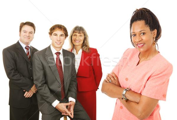 Diverso gente de negocios retrato amistoso competente aislado Foto stock © lisafx