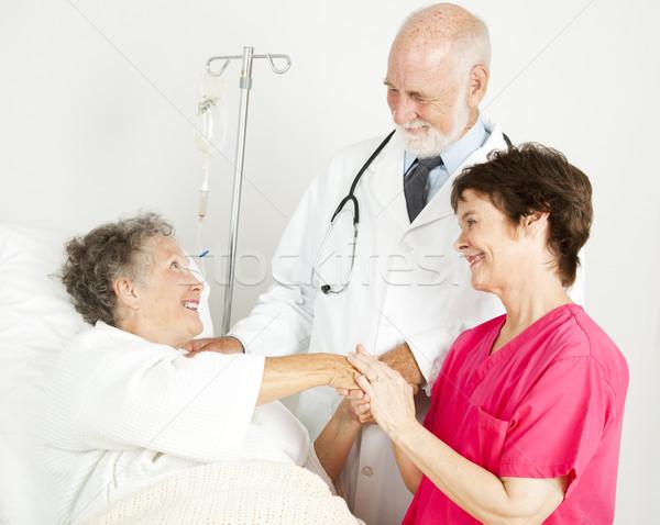Gondoskodó kórház személyzet orvos nővér üdvözlet Stock fotó © lisafx