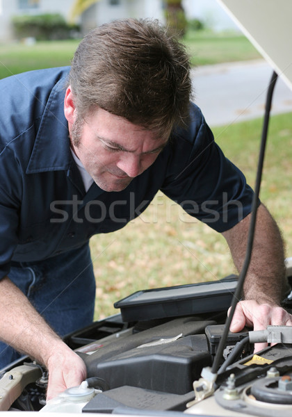 Auto Mechanic Under The Hood Stock photo © lisafx