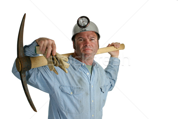 Coal Miner With Pickax 2 Stock photo © lisafx