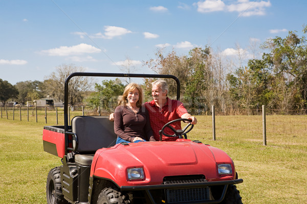 Mature Couple - Fun on the Farm Stock photo © lisafx