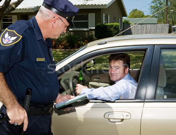 Police - Drunk Driver Guilty Stock photo © lisafx