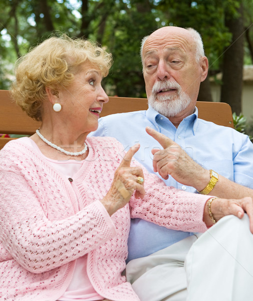 Senior Couple Disagreement Stock photo © lisafx