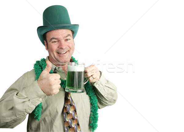 St Paddy's Day Drunk with Copyspace Stock photo © lisafx