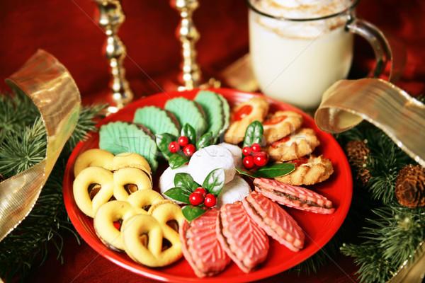 Platter of Christmas Cookies Stock photo © lisafx