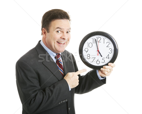 Businessman - Quitting Time Stock photo © lisafx