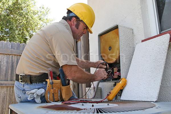 кондиционер рабочих тепло блок Сток-фото © lisafx