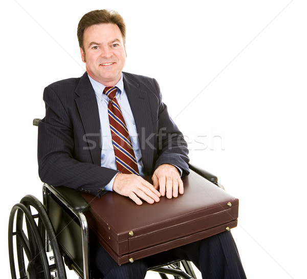Disabled Businessman with Briefcase Stock photo © lisafx
