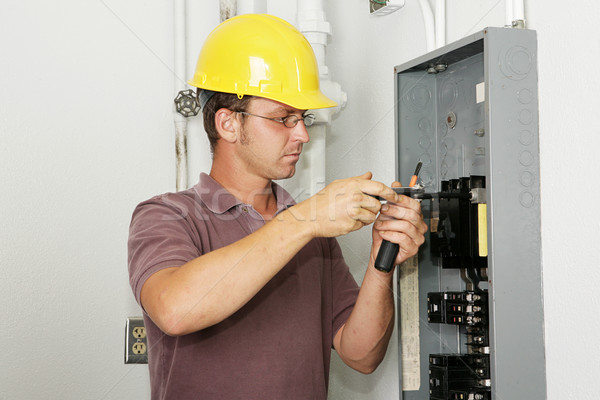 Electrician Industrial Panel Stock photo © lisafx