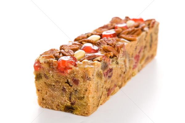 Holiday Fruit Cake Isolated Stock photo © lisafx