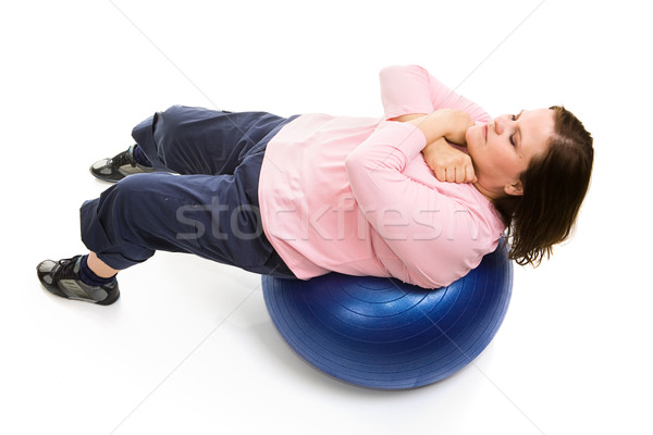 Pilates Crunches Stock photo © lisafx