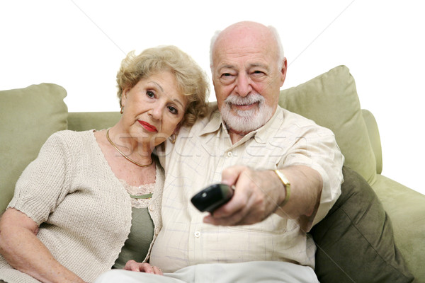 Seniors Channel Surfing Stock photo © lisafx
