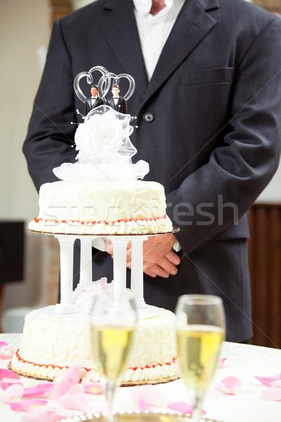 Groom at Wedding Reception Stock photo © lisafx