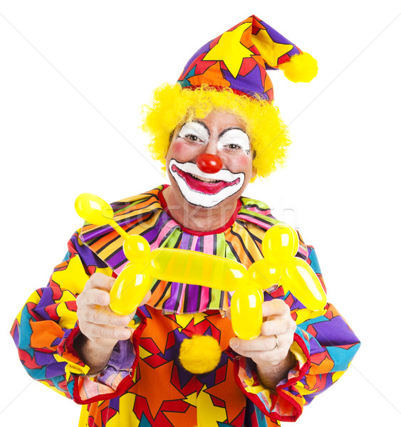Happy Clown With Balloon Doggie Stock photo © lisafx