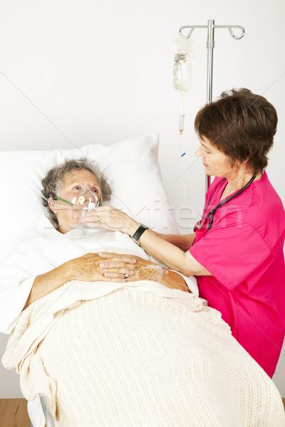 Hospital Patient Gets Oxygen Stock photo © lisafx