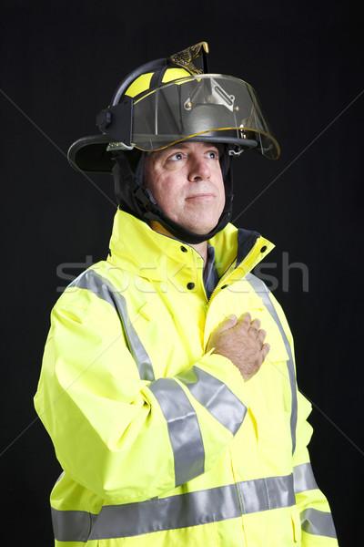 Reverent Firefighter Stock photo © lisafx