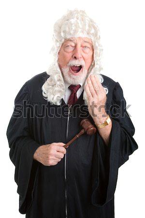 Yargıç peruk yalıtılmış görmek İngilizler Stok fotoğraf © lisafx