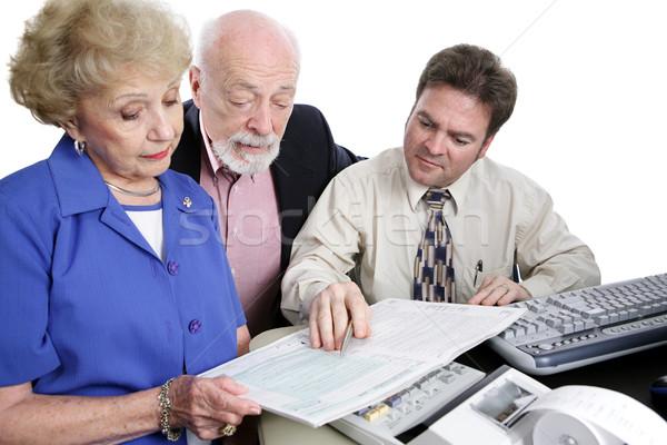учета налоговых буклет бухгалтер изолированный Сток-фото © lisafx