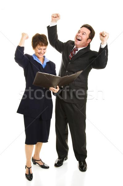 ビジネスの方々  歓喜 ポジティブ 孤立した ストックフォト © lisafx