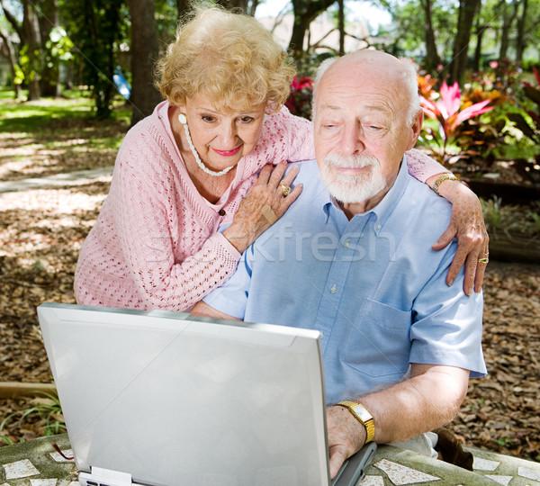 Computer Savvy Seniors Stock photo © lisafx
