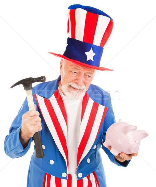 Uncle Sam Desperate for Cash Stock photo © lisafx