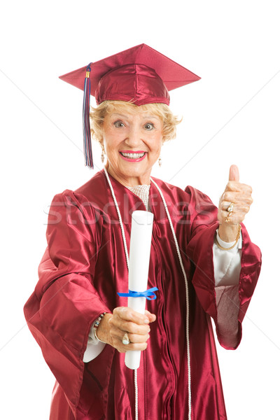 Elderly Graduate Gives Thumbs Up Stock photo © lisafx