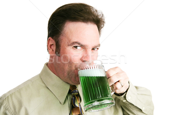 Drinking Green Beer on St Patricks Day Stock photo © lisafx