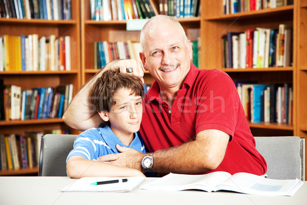 Library - Annoying Dad Stock photo © lisafx