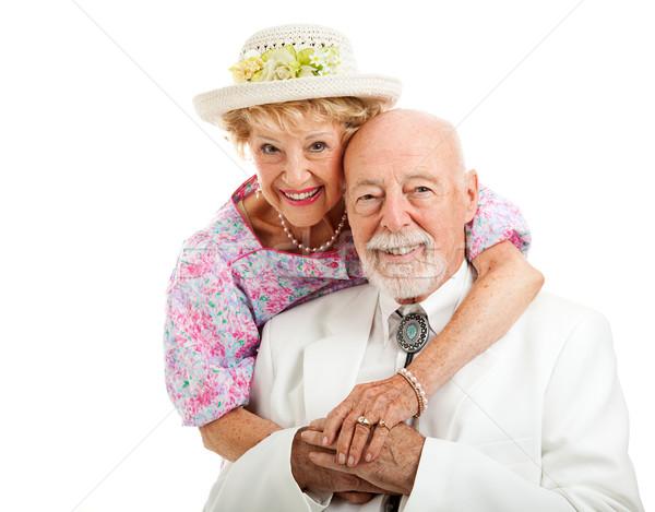 édes déli idős pár portré gyönyörű stílus Stock fotó © lisafx