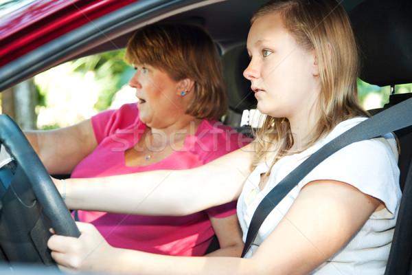 Teen driver auto incidente adolescente madre Foto d'archivio © lisafx