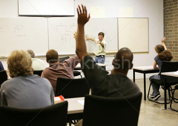 Adulto todo clase la educación de adultos maestro hombres Foto stock © lisafx