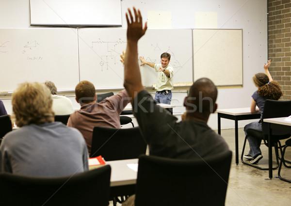 Felnőtt egész osztály felnőttoktatás tanár férfiak Stock fotó © lisafx