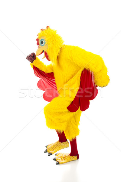 Stock photo: Chicken Man Getaway