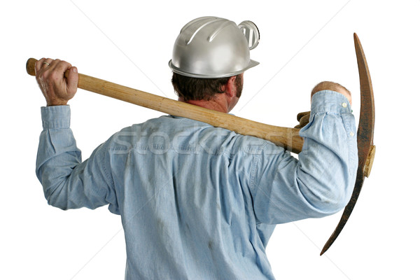Coal Miner With Pickax - Back1 Stock photo © lisafx