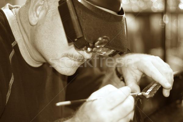 ódivatú mestermunka mester kézműves épület hajó Stock fotó © lisafx