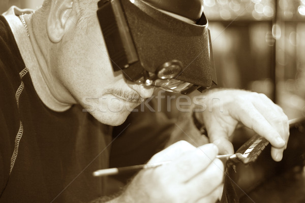 Old Fashioned Craftsmanship Stock photo © lisafx