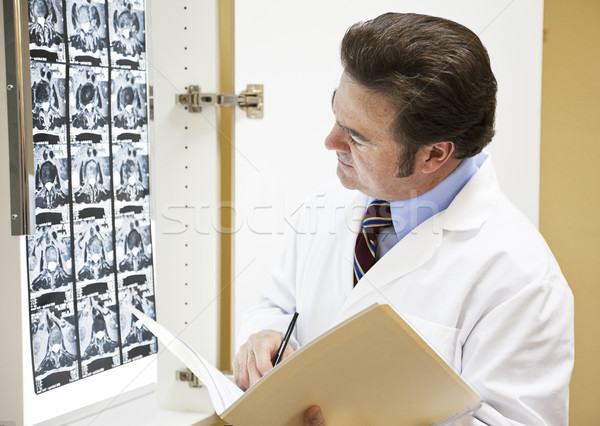Doctor Making Notation in Chart Stock photo © lisafx