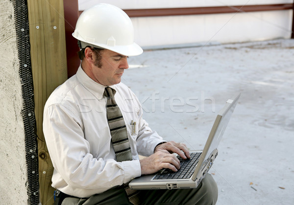 Stock photo: Engineer Online