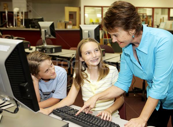 Helpful Teacher Stock photo © lisafx