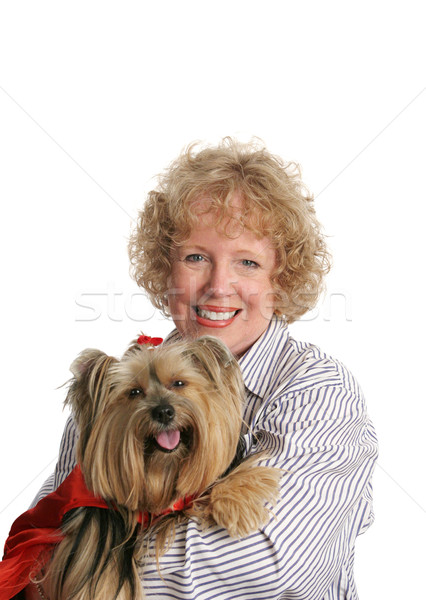 Little Red Riding Dog & Mom Stock photo © lisafx